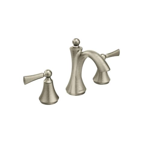 brushed nickel bathroom faucets clearance faucet com t4520bn in brushed nickel by moen