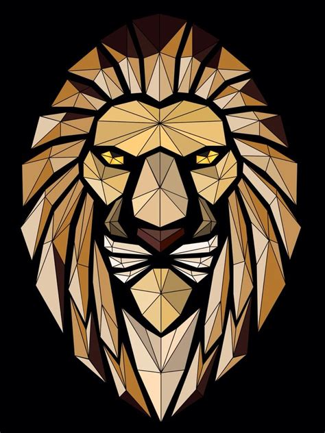 tattoo 3d vector abstract lion vector art vectorart course learn how to