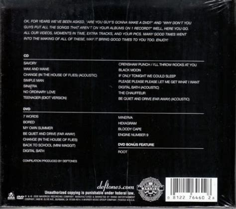 deftones dvd sealed deftones cd dvd set b sides and rarities brand new