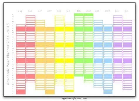 free printable academic year planner rainbow academic year planner 2014 to 2015 printable