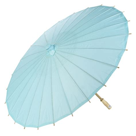 Paper Umbrella - 20 quot water blue paper parasol umbrellas on sale now