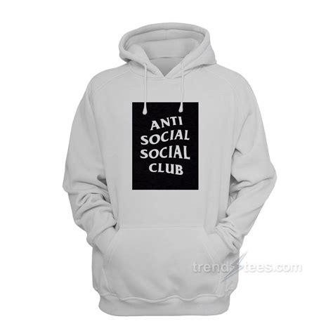 Hoodie Anti Social Social Club anti social social club box logo hoodies s or s