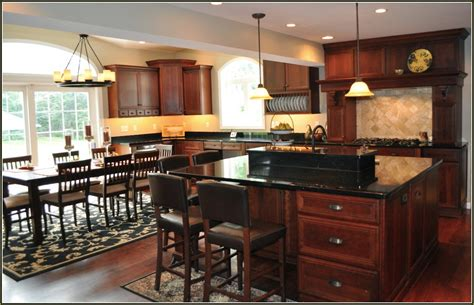 Kitchen Cabinets With Black Granite Countertops by Cherry Kitchen Cabinets With Black Granite Countertops