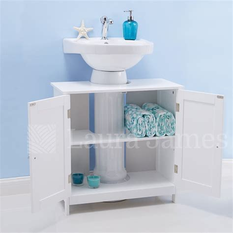 bathroom under sink storage under sink bathroom cabinet storage unit cupboard white ebay