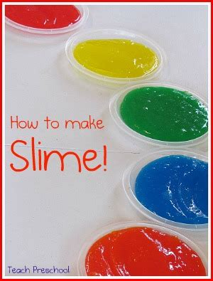 How To Make Home Made Slime by Rainbow Slime In Preschool Teach Preschool