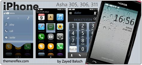 nokia asha 305 themes apps iphone theme for nokia asha 305 306 311 full touch