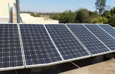 solar energy unit roof top solar energy unit setup by a local sankar rao inaugurated at babametta andhra