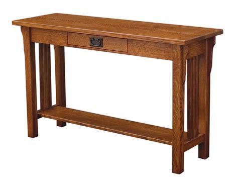 Camden Mission Sofa Table Amish Custom Furniture Mission Sofa Table