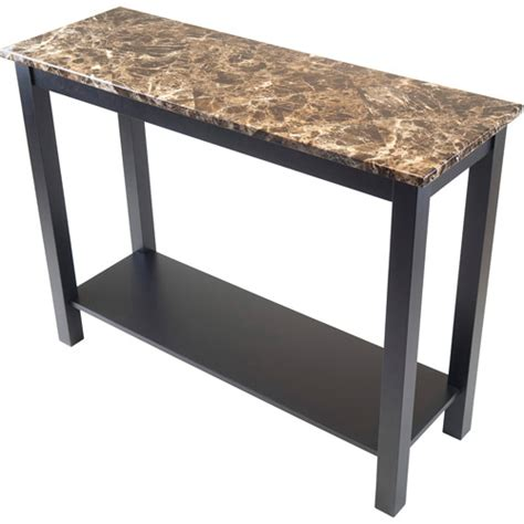 faux marble sofa table torri hall console table with faux marble black walmart com