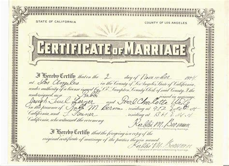 Marriage Records Los Angeles Notary Marriage License Los Angeles Bittorrentchi
