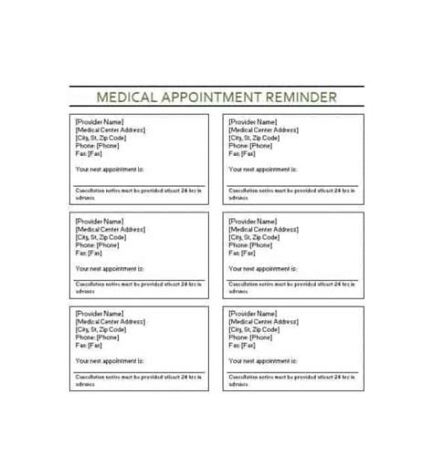 appointment cards templates free 40 appointment cards templates appointment reminders