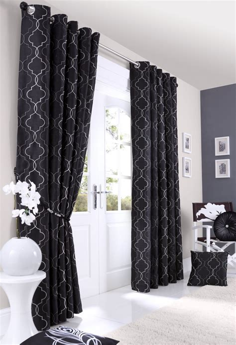 black and white lined curtains nouveau black lined eyelet curtains woodyatt curtains stock