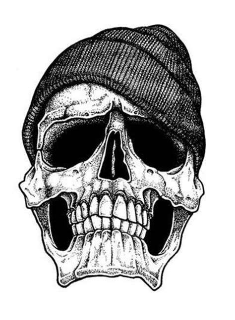 skull with hat tattoo designs tribal skull design