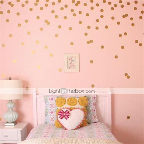 gold dot wall decals polka dot wall decal sticker peel and stick metallic