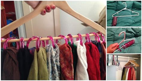 diy scarf storage hack usefuldiy