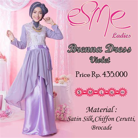 Gamis Dress Baju Muslimah Violet Ummina brenna dress violet baju muslim gamis modern