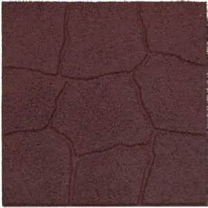 home depot rubber pavers envirotile 18 in x 18 in flagstone terra cotta rubber