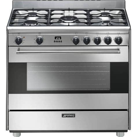 mod鑞e cuisine 駲uip馥 smeg 36 inch 5 burner dual fuel range stainless s9gmxu
