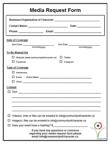 Request Letter To Fill Up Form Facilities Committee Purpose Images