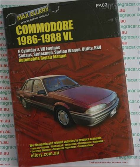 what is the best auto repair manual 1986 ford f series seat position control holden commodore vl repair manual 1986 1988 ellery new sagin workshop car manuals repair