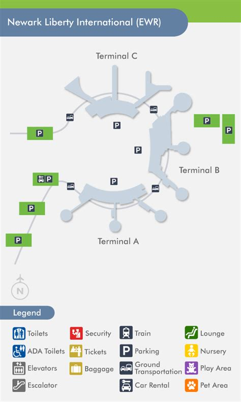 ewr airport map newark airport ewr terminal map