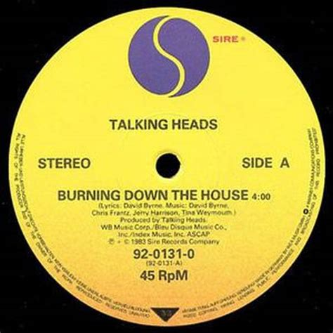burning down the house talking heads oye records betty boo thing goin on