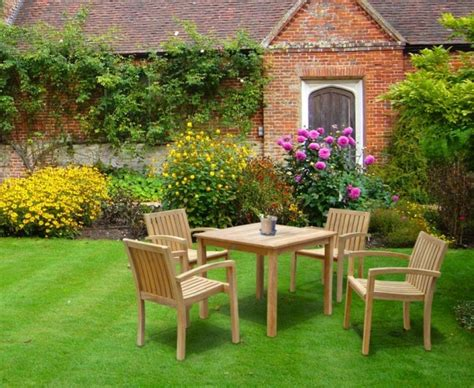 4 seater table and chairs 4 seater garden table and stacking chairs set