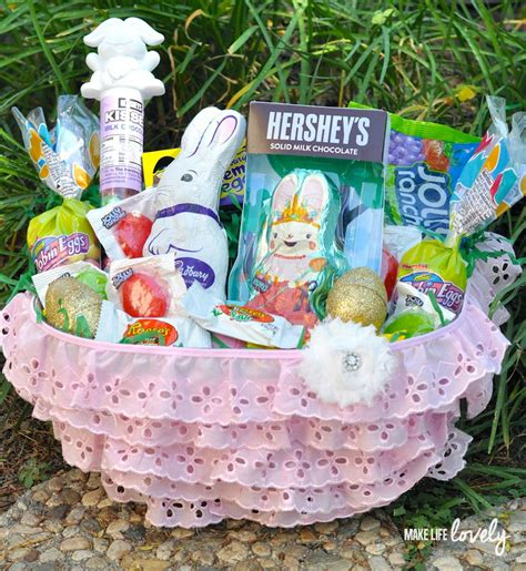 diy easter baskets diy pink ruffle easter basket for make lovely