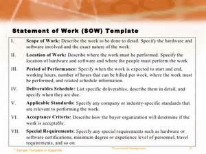 Procurement Statement Of Work Template project management for procurement practices