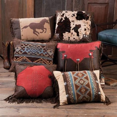 decorating leather with pillows western decor stunning western throw pillow collection