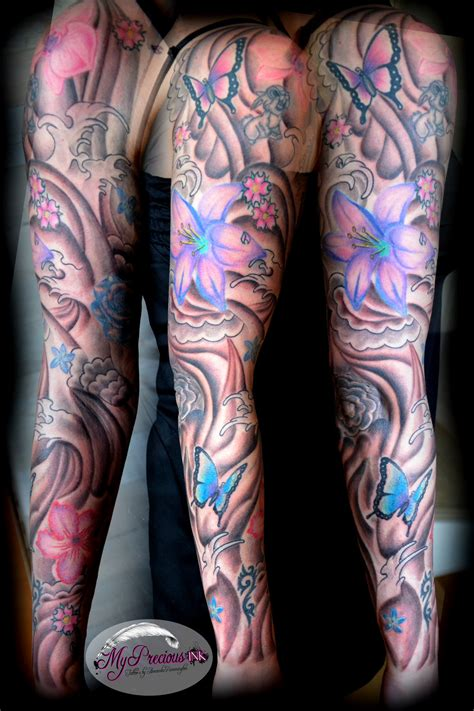 flower butterfly sleeve by mentjuh on deviantart