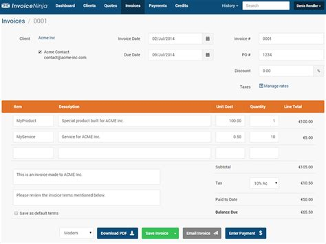 invoice design template bootstrap introducing invoiceninja self hosted invoicing sitepoint