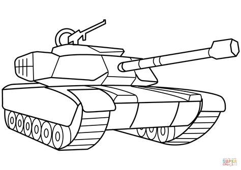 Interesting Photo Collection Of Tank Coloring Pages Army Tank Coloring Page