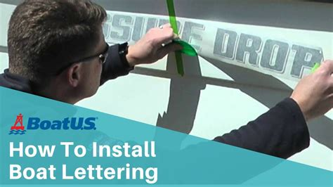 boat lettering boatus how to install boat lettering boatus youtube