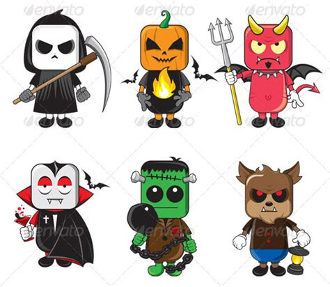 printable pictures of halloween characters 50 creepy design resources for halloween envato