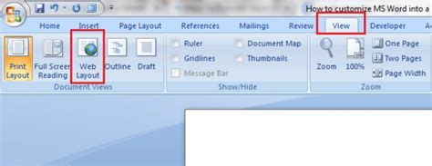 web layout ms word how to make microsoft word into a minimalist word