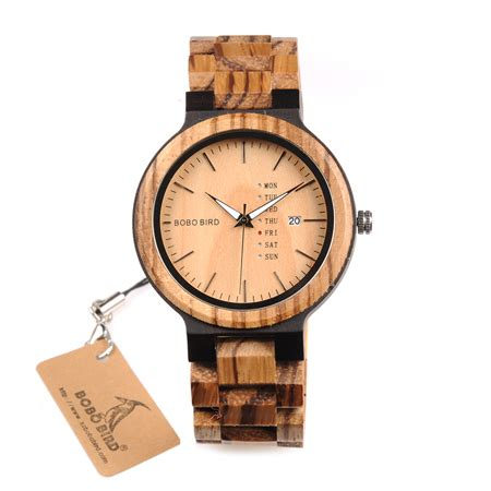 Bobo Bird 2017 Two Tone Wooden For Quartz Brand Design wood week display hera trend