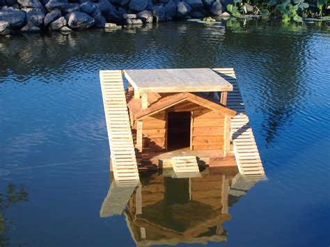 Floating Duck House by Custom Floating Duckhouse