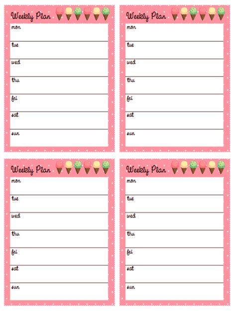 9 best images of cute printable weekly planners 2015 tinysandtea free weekly printable planner