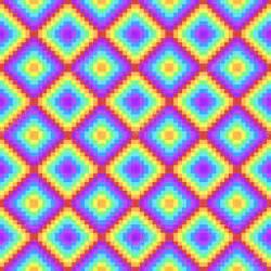 Fabric Rug Fond De Couleur Arc En Ciel De Pixel Art Image