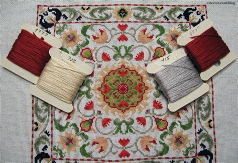 cross stitch rug background colors
