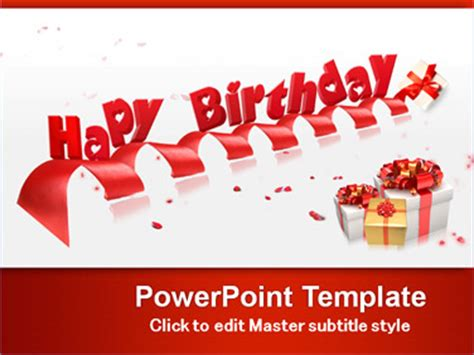 Happy Birthday Powerpoint Templates Ppt Presentation Happy Birthday Ppt Templates Free