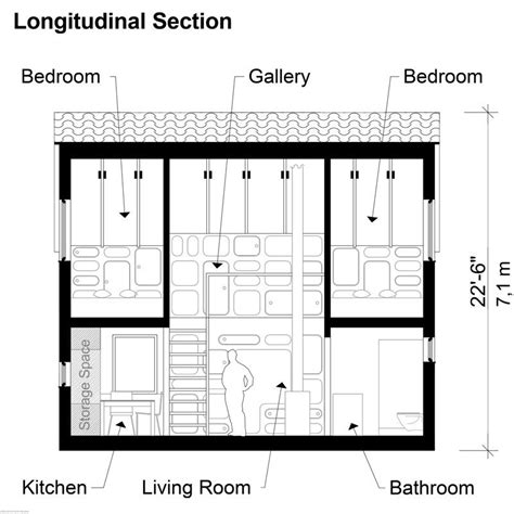 section bedroom two bedroom modern house plans