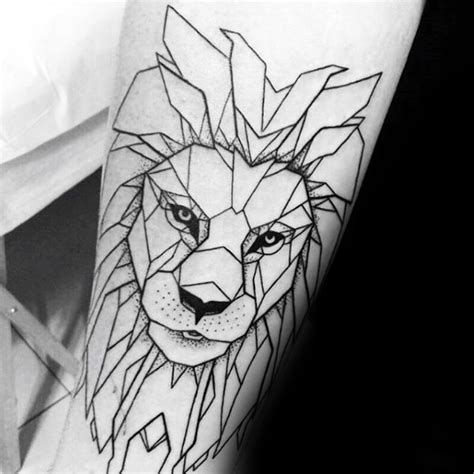 lion outline tattoo 60 geometric designs for masculine ideas