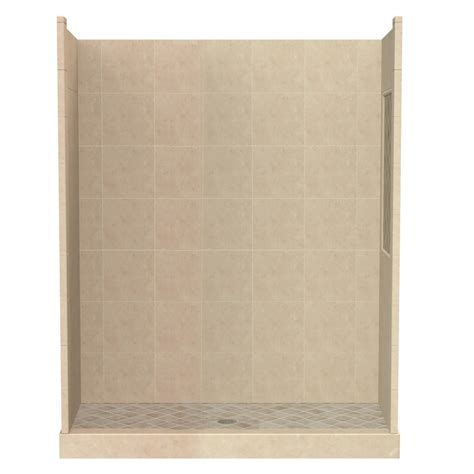 Alcove Shower Kits by Shop American Bath Factory Panel Medium Fiberglass And Plastic Composite Wall And Floor Alcove