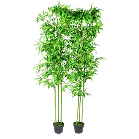 artificial plants for home decor bamboo artificial plants home decor set of 6 240017x