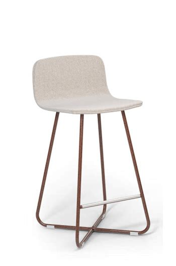 X Base Stool Upholstered by Modern 26 Quot X Base Upholstered Low Back Stool Free Shipping