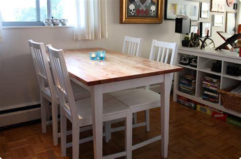 Ikea Dining Table Hack Bj Rkudden Modern Harvest Table Get Home Decorating
