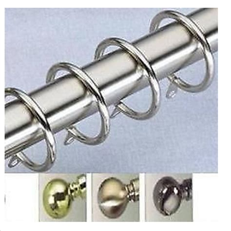 extra large curtain rings extra metal rings for trade packed 29mm curtain poles ebay