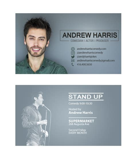 Free Actor Business Cards Templates by Actor Business Cards Business Card Design